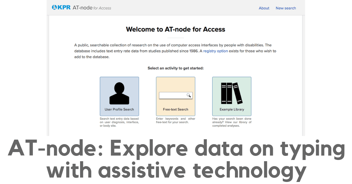 AT-node: explore the data on typing with assistive technology