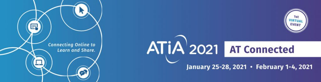 Logo for ATIA 2021 conference