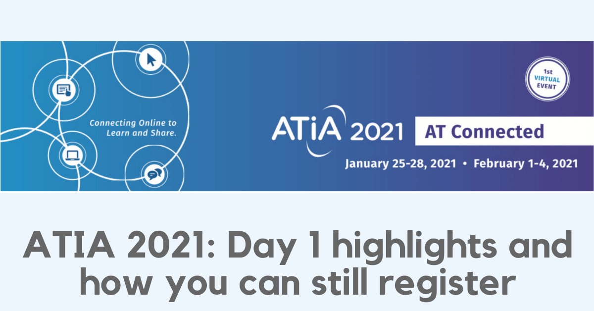 ATIA 2021 – Day 1 highlights and how you can still register